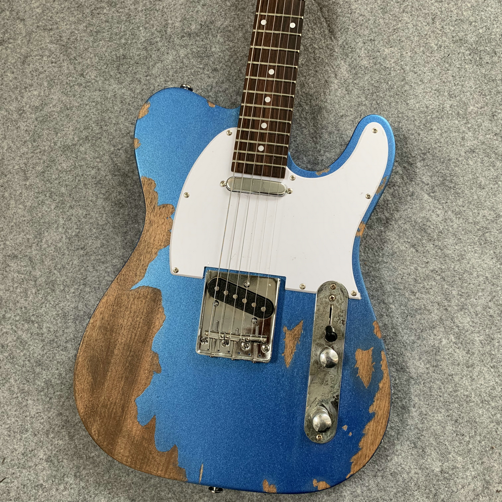 Reliques anciennes guitare électrique, guitare bleu télé, quand cadeaux à des amis, collection. Livraison gratuite.