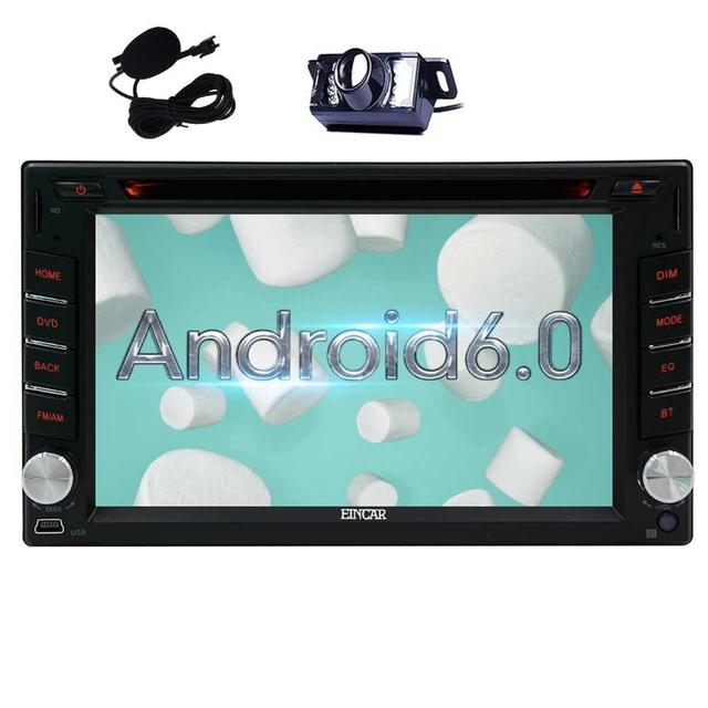 Double 2Din Car Stereo DVD Player GPS Navi Bluetooth Android 6 0+Backup CAMERA