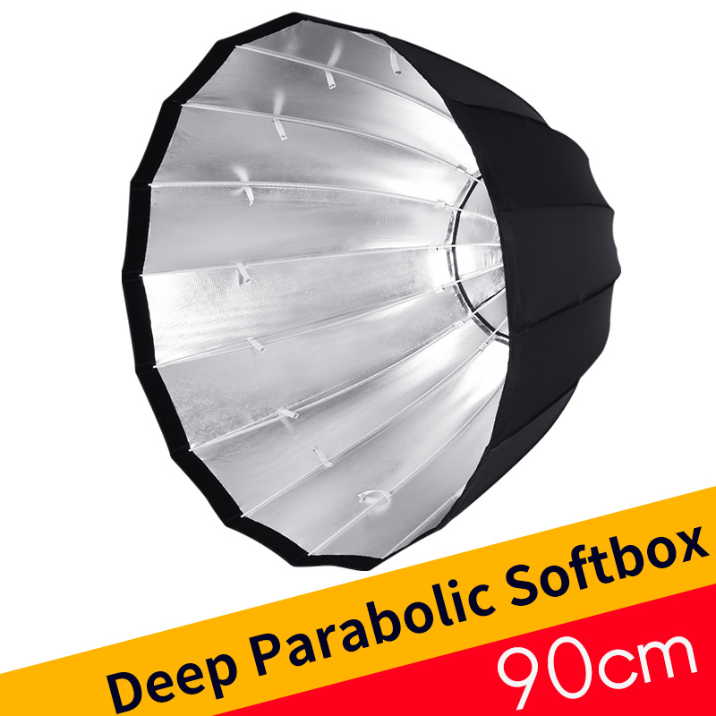 Godox Portable Deep Parabolic Softbox P90L 90cm for Bowens Mount Studio Flash Speedlite Reflector Photo Studio Softbox meking photo studio lighting softbox 70cmx100cm 28x40 with bowens mount photo softbox reflector for flash speedlight