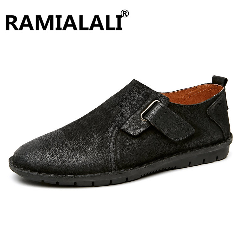 Ramialali Men Genuine Leather Shoes High Quality Real Leather Men Flats Shoes Glitter Men Moccasins Shoes Mocassin Homme-in Men's Casual Shoes from Shoes    1