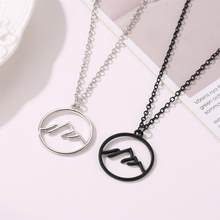 2019 Hot Fashion Silver Mountain Necklace Minimalist Jewelry Mountain Range Jewellery Nature Hiker Climbing Lover Gifts Collier(China)