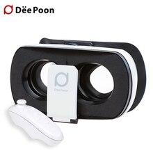 Deepoon V3 VRแว่นตาG Oogleกระดาษแข็งกล่องมิติเสมือนจริงชุดหูฟังหมวกกันน็อคสำหรับ3.5-6.0นิ้วมาร์ทโฟน+บลูทูธGamepad 5.0