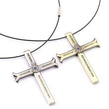 One Piece Dracule Mihawk Cross Pendant Necklace