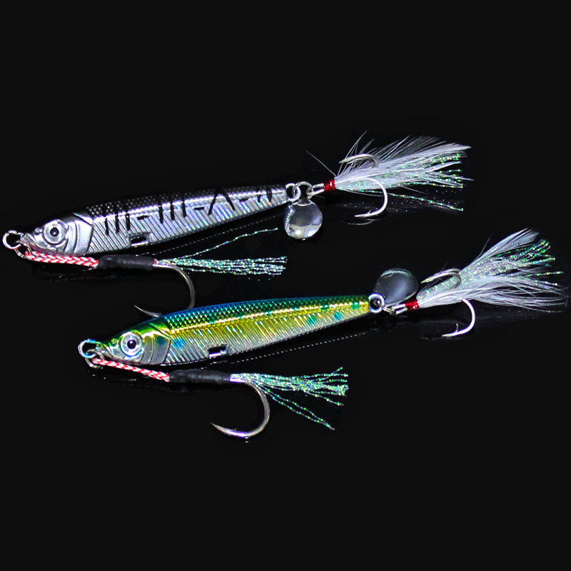 купить Hot Sale Laser Jigbait Fresh Salt Water Fishing Lure 42g 80g Lead Fish Artificial Baits Jigs Strengthen Blood Groove Hooks дешево