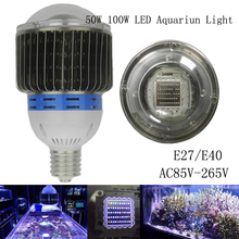 50w 100w Aquarium Led Light for Marine Reef Corals e40 e27 led high power led aquarium lamp