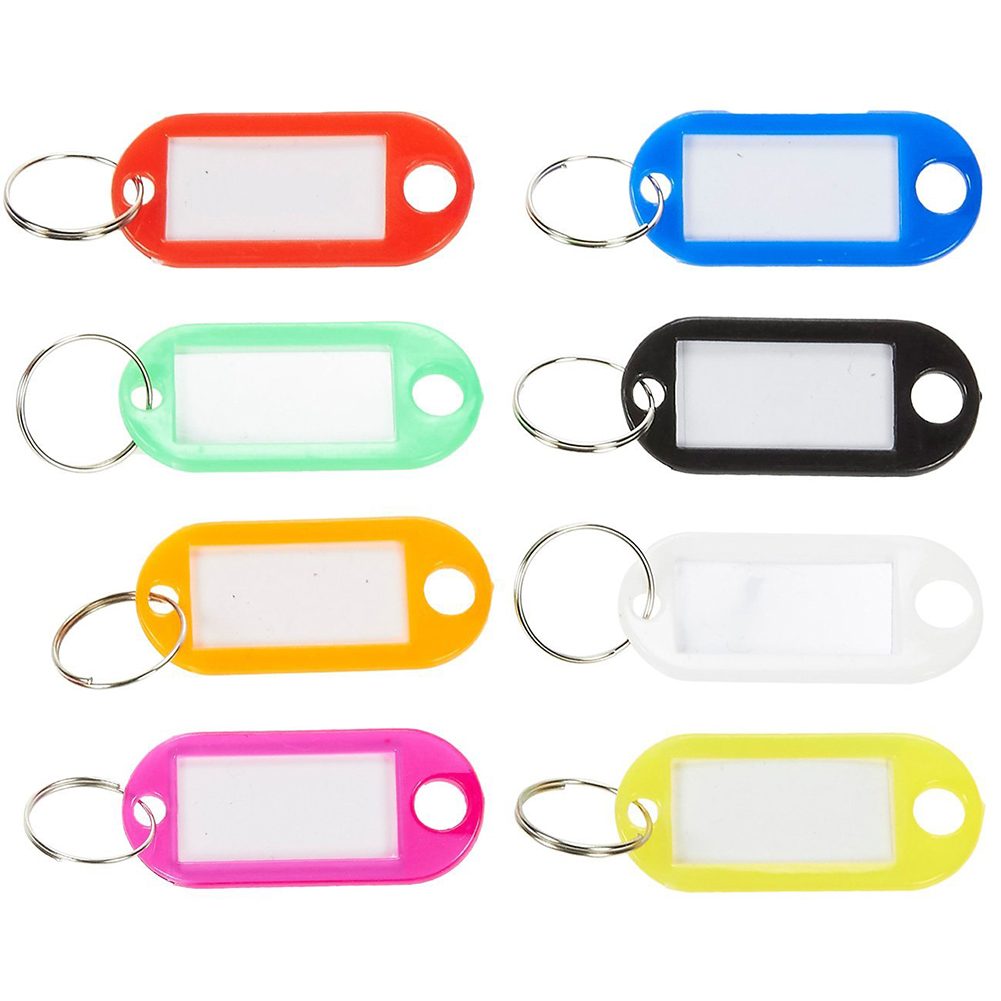 150 Piece Set Name Tags Multi-Colored ID Tag Set for Luggage, Keys, 6*2.2cm
