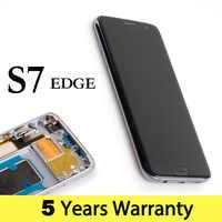 Original de la pantalla del teléfono para Samsung S7 pantalla G935F G935 pantalla Lcd con pantalla táctil para Samsung Galaxy S7 borde Lcd pantalla