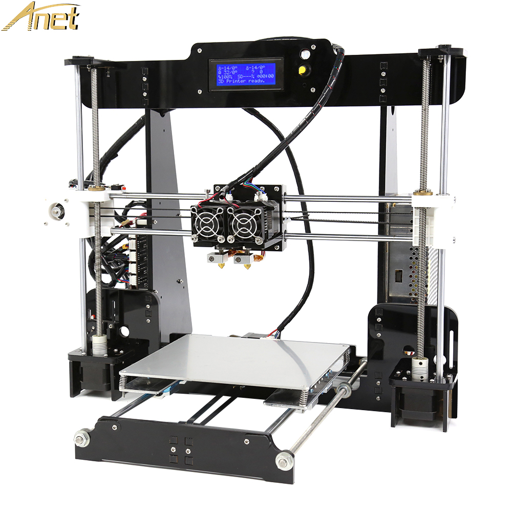Update Anet A8M Dual Extruder 3D printer Easy Assemble imprimante 3d printers DIY Kits Print size 220*220*240 with 10m filament double color m6 3d printer 2017 high quality dual extruder full metal printers 3d with free pla filaments 1set gift