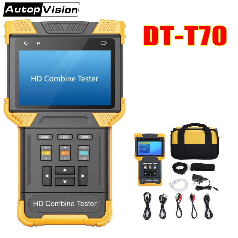 DT T70 H 264 H 265 4K IP Analog Camera Tester 4 0 Inch HD Combine