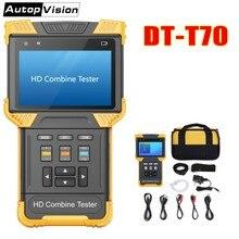 DT T70 H.264/ H.265/ 4K IP אנלוגי מצלמה בודק 4.0 אינץ HD לשלב בודק CCTV Tester צג תמיכה ONVIF TDR RJ45 כבל מבחן