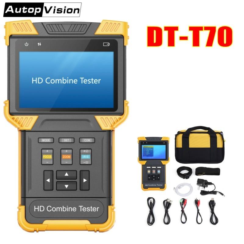 DT-T70 H.264 / H.265 / 4K IP analogās kameras testeri 4,0 collu HD kombinētā testera CCTV testeri Monitoru atbalsts ONVIF TDR RJ45 kabeļu pārbaude