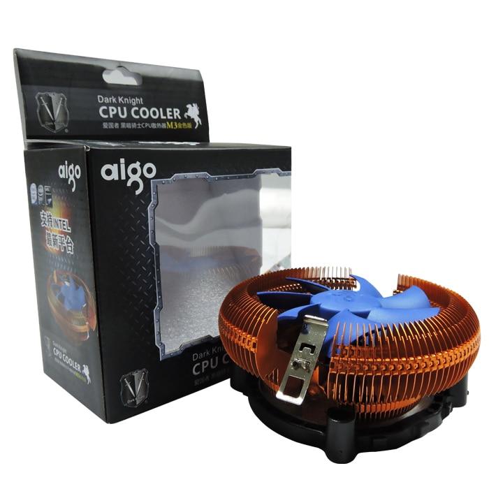 Aigo M2/M3 CPU Refroidisseur TDP 120 W Radiateur avec 90mm Ventilateur Radiateur 2000 RPM Refroidisseur pour LGA 775/1151/1155/1156 et AM2/AM3/AM4