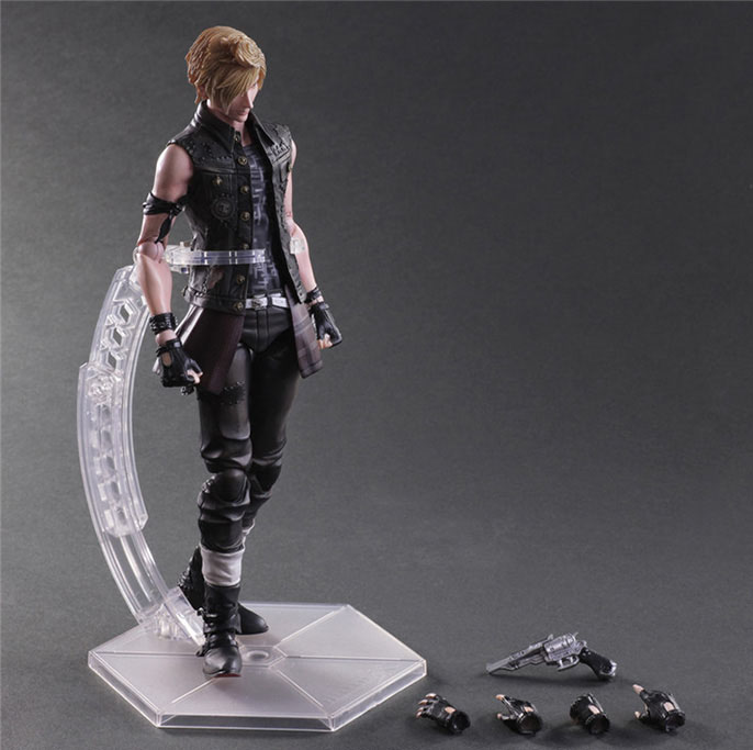 Free Shipping 10 PA KAI Final Fantasy 15 Prompto Argentum Boxed 25cm PVC Action Figure Collection Model Doll Toy Gift free shipping 10 pa kai hatsune miku boxed 25cm pvc action figure collection model doll toy gift