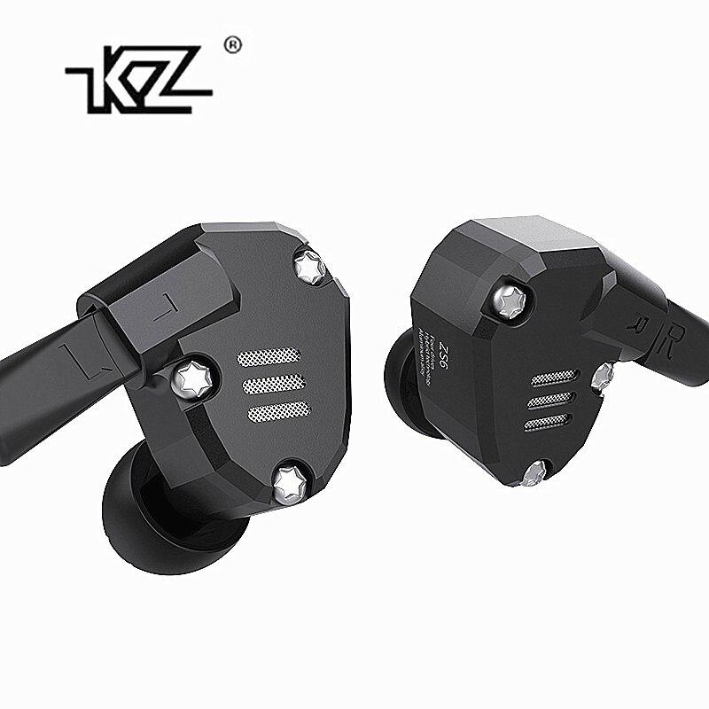 KZ ZS6 2DD + 2BA Hybride Dans L'oreille Écouteurs HIFI DJ Monito de Course Sport Écouteurs Boules Quies Casque Intra-auriculaires KZ ZS6 ZS10 ZS5 AS10 ES4