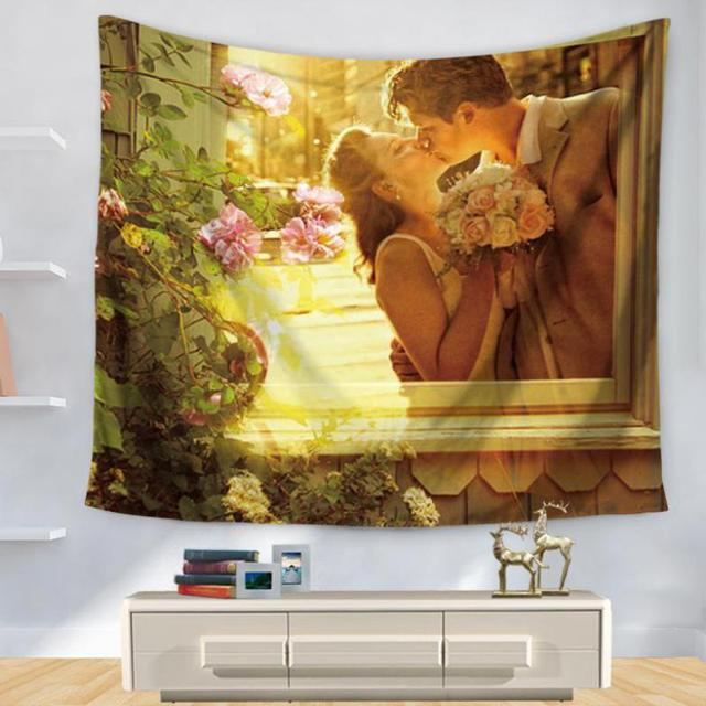Factory Supply Hand Painted Windows Wooden Doors Creative Tapestries ...