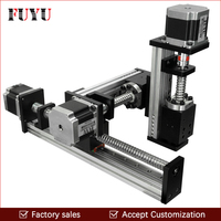 Free shipping CNC screw drive XYZ linear stage table slide motion system for laser cut 300*300*300mm stroke