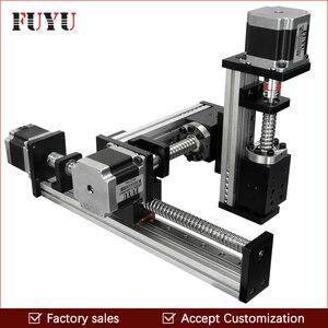 Envío Gratis, Unidad de tornillo CNC XYZ, sistema de movimiento deslizante de mesa de escenario lineal para corte láser, tiempos de 300x300x300mm