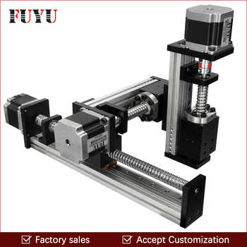 Free shipping CNC screw drive XYZ linear stage table slide motion system for laser cut 500*500*500mm stroke - DISCOUNT ITEM  0% OFF All Category