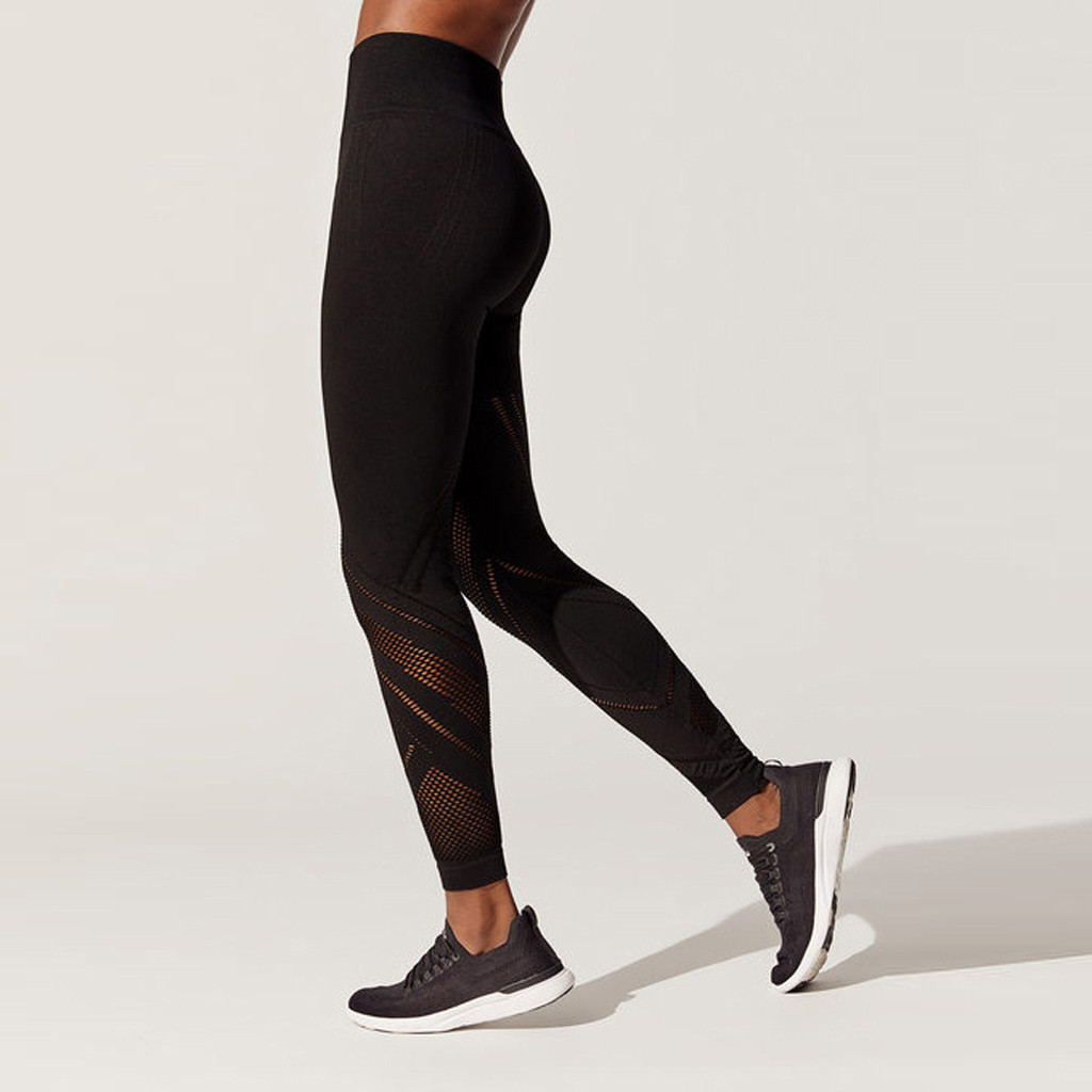 Pants Sportswear Fitness-Training Leggings Trousers Tights Running Women Gym Elastic