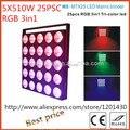 2 шт./5X5 10 Вт 3inn1 RGB LED Матрица свет/led par/led лампы DMX этап контроллера освещения COB свет DJ оборудование