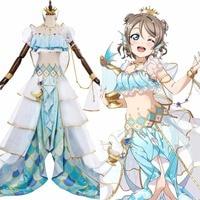 LoveLive Sunshine!! Watanabe You Cosplay G's Magazine Costume Dress Swimsuit Halloween Carnival LL Cosplay Costume Customizable
