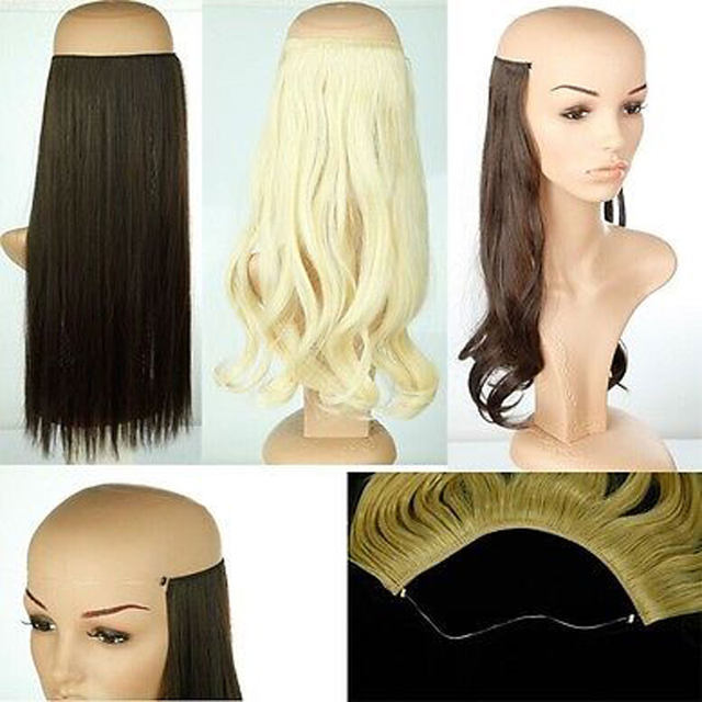 Online Shop S Noilite 20 Inches Invisible Wire No Clips In Hair
