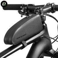 Rockbros Bicycle Bag Waterproof MTB Road Bike Bag Large Capacity Cycling Top Frame Tube Bag Black