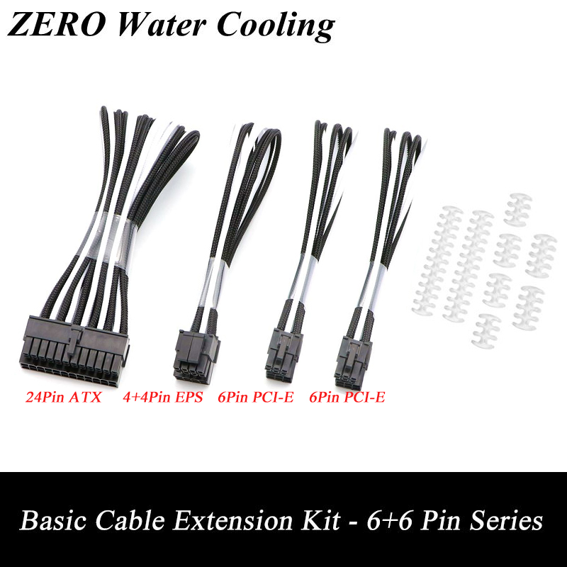 все цены на Basic Extension Cable Kit - 12 Mixed Color Sleeved, 1pcs ATX 24Pin, 1pcs EPS 4+4Pin, 2pcs PCI-E 6Pin Extension Cable. онлайн