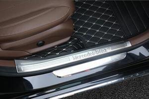 Image 3 - Per Mercedes Benz Nuovo E Classe Soglia E200L E300L Decorazione Adesivo Pedale Benvenuto Pedale Decorazione Interna di Modifica