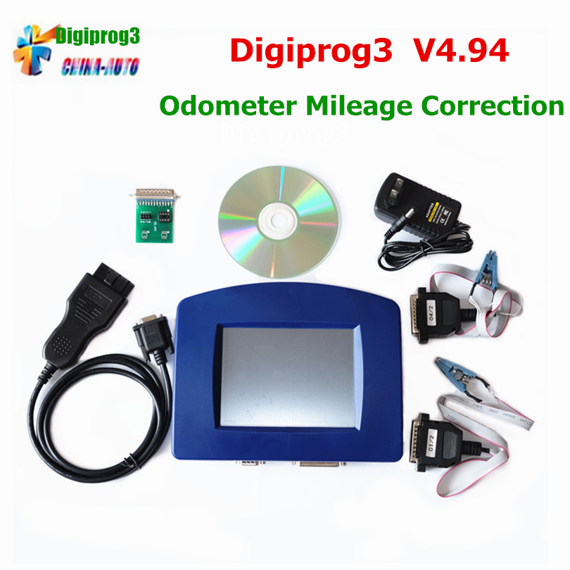 2018 Newest Odometer Programmer Digiprog III OBD Version Digiprog 3 V4.94 With OBD2 ST01 ST04 Cable Odometer Digiprog3 Free Ship hot sale original professional st60 w211 and w203 cluster diagnostic cable for digiprog iii