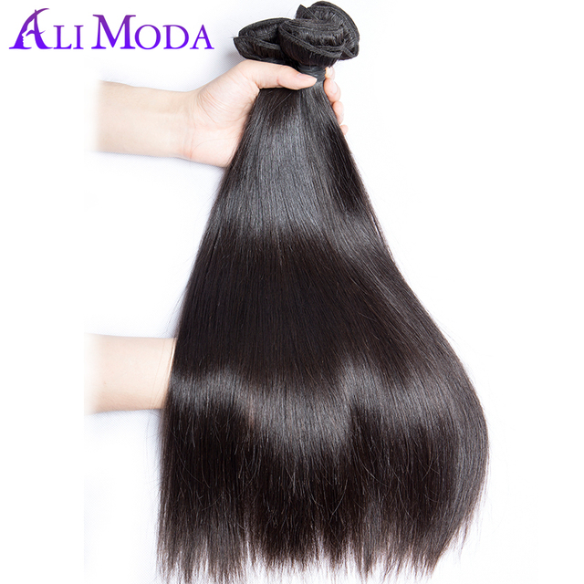 Ali Moda Brazilian Virgin Hair Straight 100 Human Hair Weave