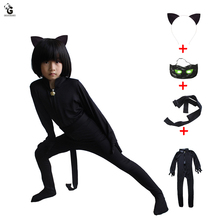 Cat Noir Cosplay Ladybug Costumes Kids Jumpsuits Halloween Costume For Boys Carnival Party Dress Up Adrien Agreste