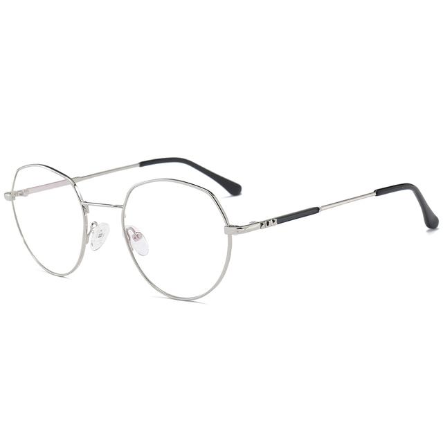 SUERTREE Glasses Women Men Metal Eyeglasses Frame Clear Lens Optical Fashion Designer Eyewear 1065