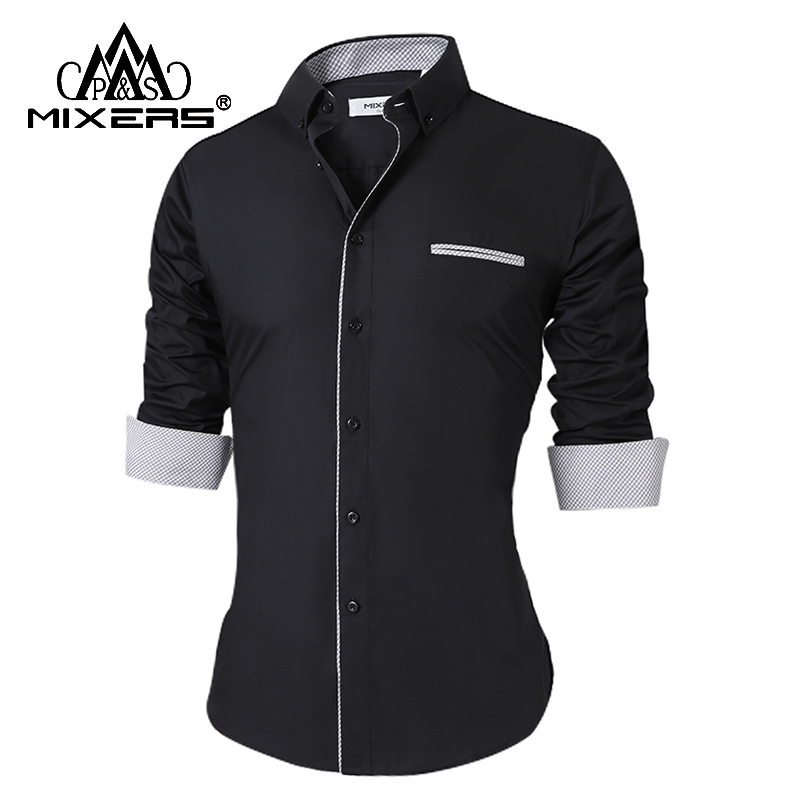 2018 New Men's Casual Shirts Long Sleeve Fashion Casual Shirt Men Office Dress Shirt Male All Size XS-Plus Size Camisa Masculina
