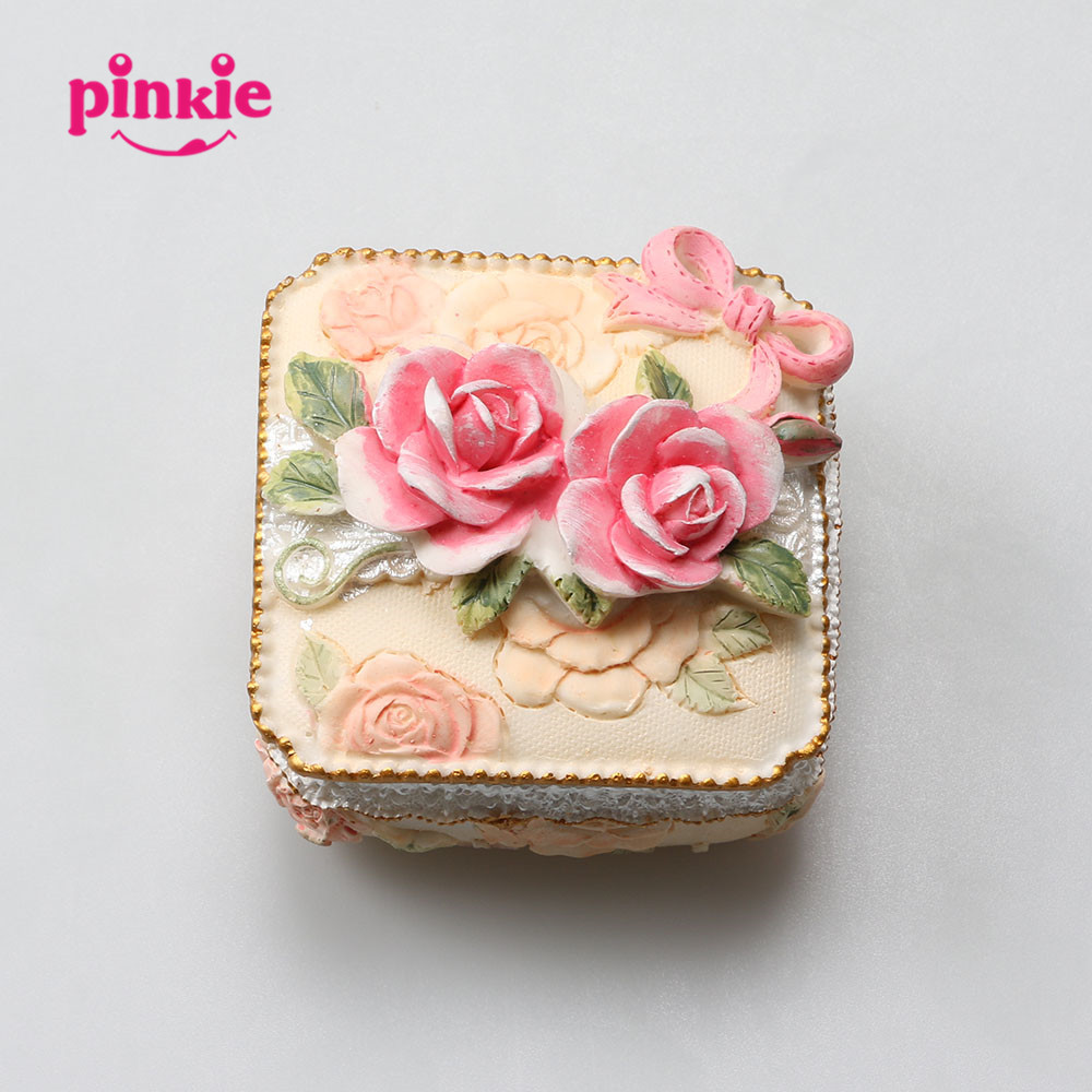 Pinkie Handmade Rectangle Shaped Jewelry Box 3D Silicone box molds