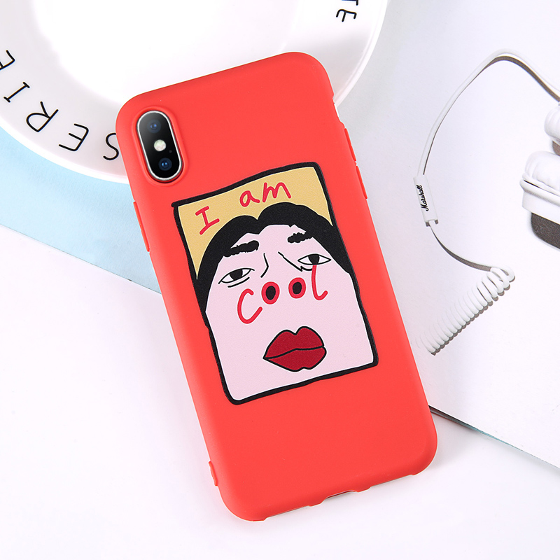 b4044e99a9 Phone Case For iPhone 6 6s 7 8 Plus X XR XS Max Cute Cartoon Letter ...
