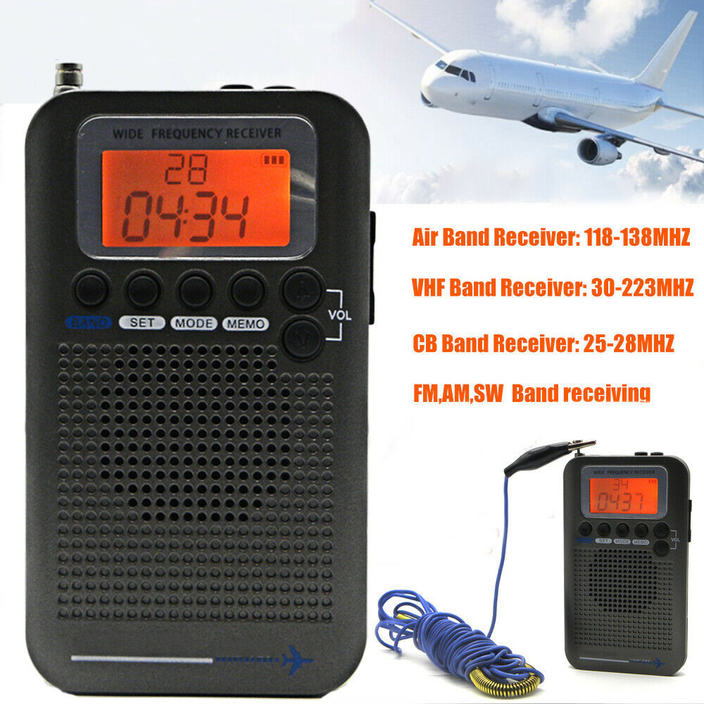 Mini Portable Pocket AM/FM 2 Way LCD Telescopic Antenna Battery Powered Radio Receiver