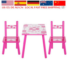 New Style Kids Wooden Table and Chair Set Children Playing Painting Auxiliary Tools Household Child Studying Accessories(China)