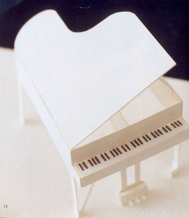 Free shipping White piano musical instrument model ...