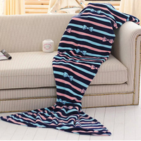 Home Soft Mermaid Tail Sofa plush Blanket Lap Throw Bed Wrap Fin Warm Cocoon Costume Girls 820056