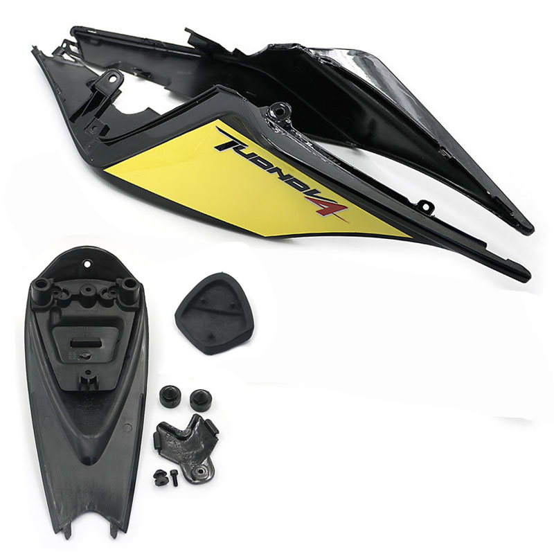 ABS Plastic Rear Tail Pillion Passenger Hard seat Cover cowl Fairing set for Aprilia RSV4 1000