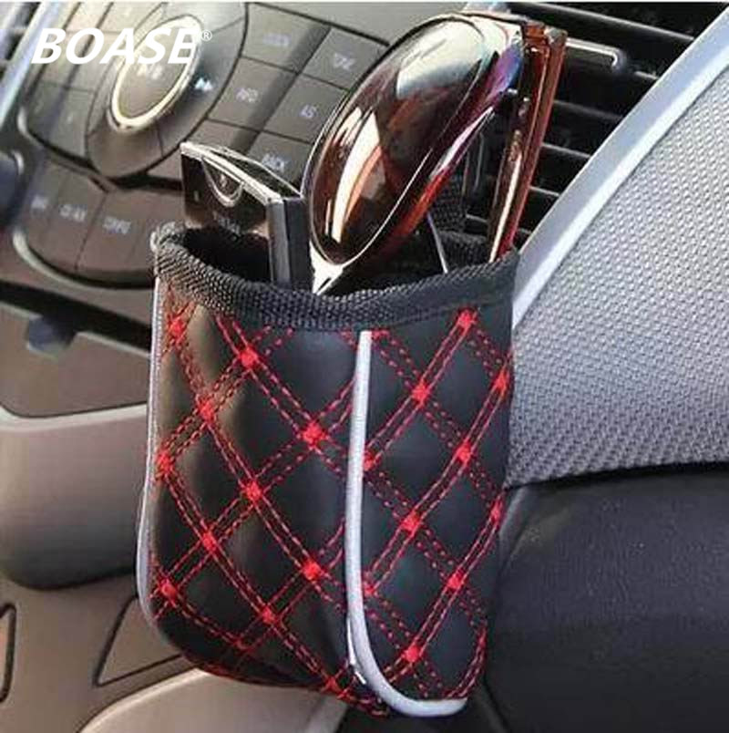 Mobile phone holder car red wine series of car leather upholstery car outlet sundries bag cell phone pocket glove