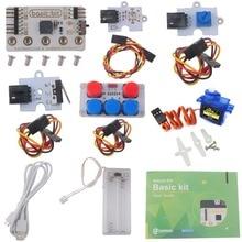 for Microbit Basic Kit, LED Module Crash Sensor Potentiometer Servo Starter Kit without Micro:bit Board, DIY Beginners Program elecfreaks ef08180 microbit starter kit