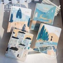 Европейский Стиль Холст 2017 Планировщик Ноутбук DIY Карман Журнал Дневник Граффити Doodle Школьных Подарков Канцтовары Оптом