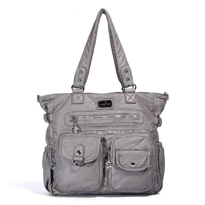 2019 Summer Brand Female Shoulder Bag Large Multifunction Zipper Pockets Messenger bags High Quality PU Leather