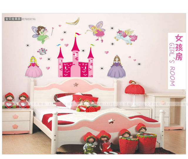 Angel castle the princess loved children home decor wall decals ...