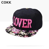 Fabric Flowers LOVER Caps 2015 Korean New Fashion Brand Three Dimensional Embroidery Hip Hop Cap Sun