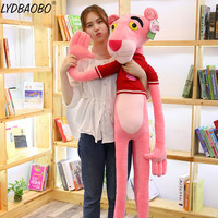 LYDBAOBO 1PC 110CM Giant New Hot Pink Panther Plush Toys Leopard Jaguar Children Dolls Christmas Presents Baby Kid Birthday Gift