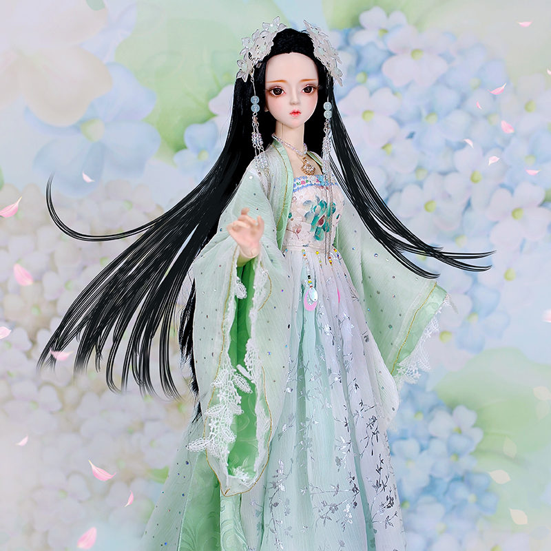 New Fashion Style 1/3 BJD Doll In Light Green Dress BJD/SD Beautiful Doll For Baby Girl Child Birthday Gift DIY Toy for ChildrenNew Fashion Style 1/3 BJD Doll In Light Green Dress BJD/SD Beautiful Doll For Baby Girl Child Birthday Gift DIY Toy for Children