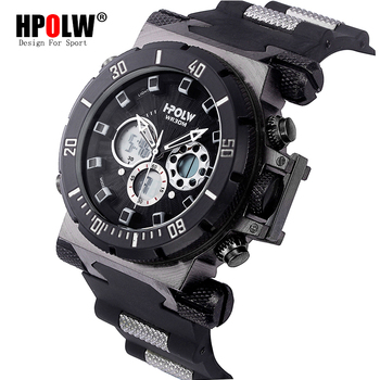 HPOLW Luxury Brand Mens Sports Watches Dive Digital LED Military  Watch Men Fashion Casual Electronics Wristwatches Clock